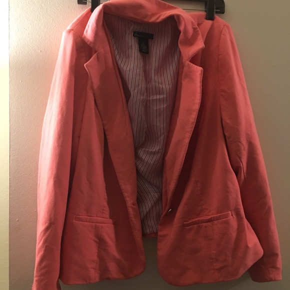 Lane Bryant Jackets & Blazers - Pink Plus Size Blazer- only worn twice